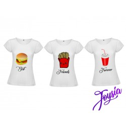 Tris maglie best friends fast food