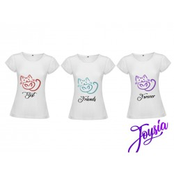 Tris maglie best friends gatti