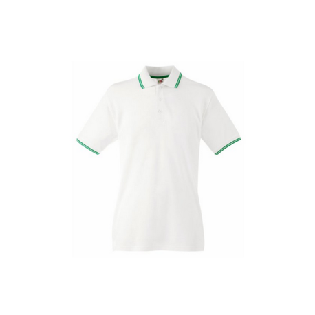 Polo Fruit Of The Loom Bianco-verde