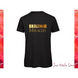 T-shirt EXPECT MIRACLES organic cotton black/gold by JOE VITALE