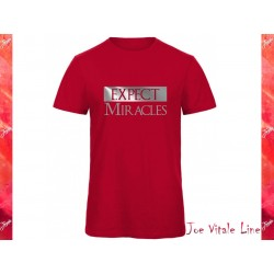 T-shirt EXPECT MIRACLES organic cotton red/silver by JOE VITALE