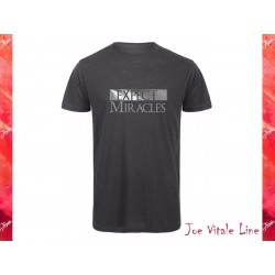 T-shirt short sleeves EXPECT MIRACLES organic cotton grey/silver by JOE VITALE