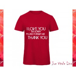 Red t-shirt JOE VITALE ho'oponopono ORGANIC COTTON