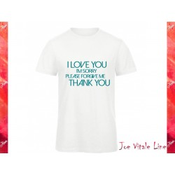 White t-shirt JOE VITALE ho'oponopono ORGANIC COTTON