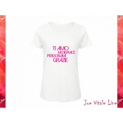 White t-shirt JOE VITALE ho'oponopono ita woman ORGANIC COTTON