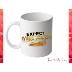 Tazza Joe Vitale EXPECT MIRACLES verde